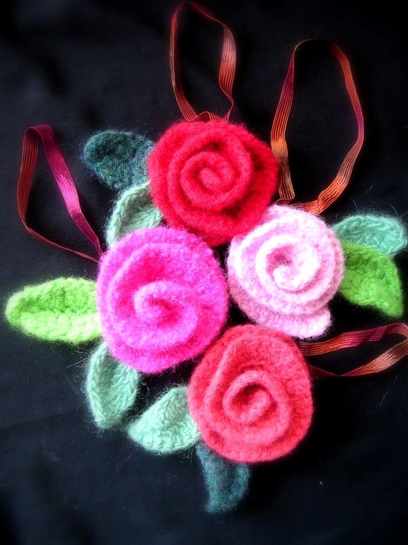 Felt Rose Pattern Fresh Felted Roses Crochet Rose Pattern Tutorial Crochet Flower
