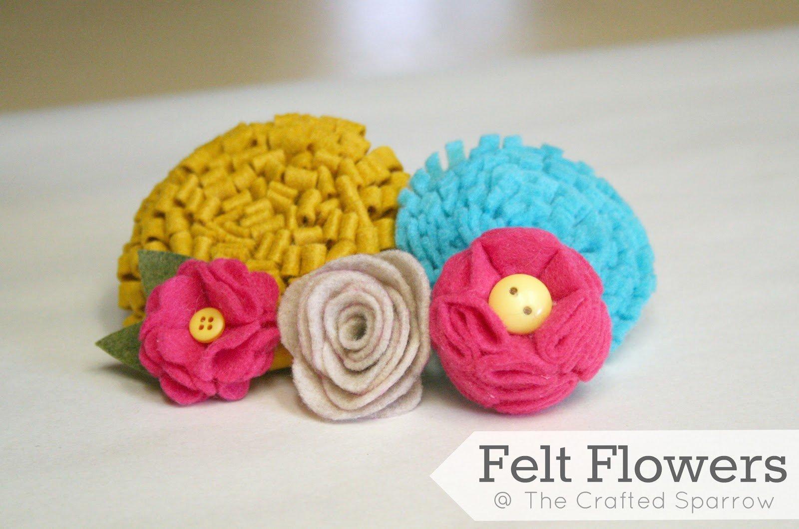 Felt Rose Pattern Luxury Felt Flowers Tutorials 5 to Choose From
