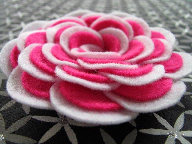 Felt Rose Pattern New Abbey Rose No Sew Flower Tutorial Felt Flower Pattern Hairclip
