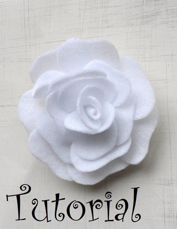 Felt Rose Pattern Unique Rose Pattern Felt Flower Brooch Hairclip Headband Pdf Tutorial