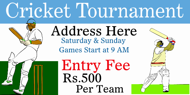 Fence Cup Design Template Awesome Sample Invitation Letter format for Cricket tournament
