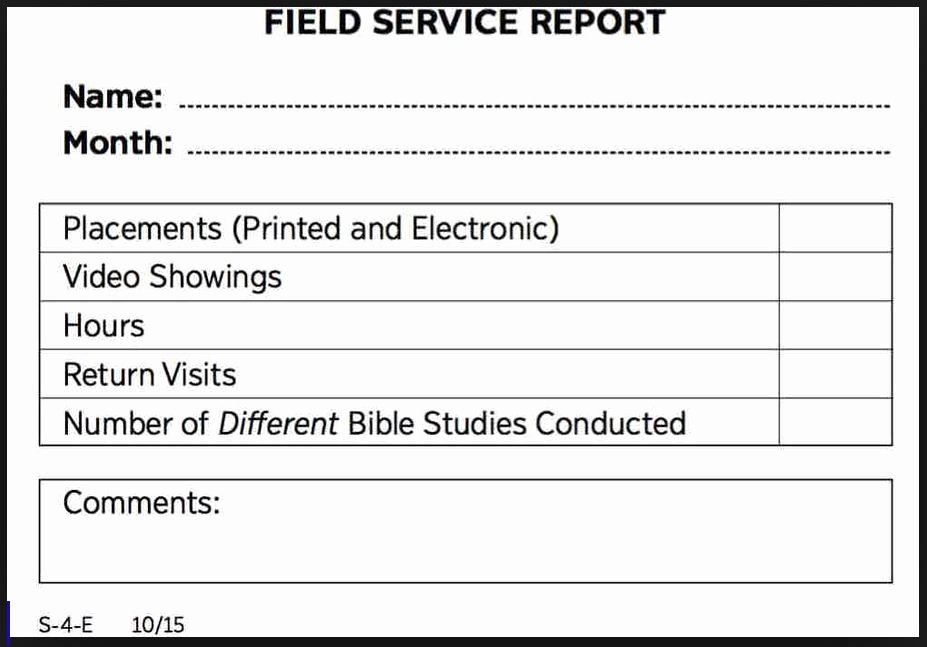 Field Report Example Beautiful Should You Report Field Service