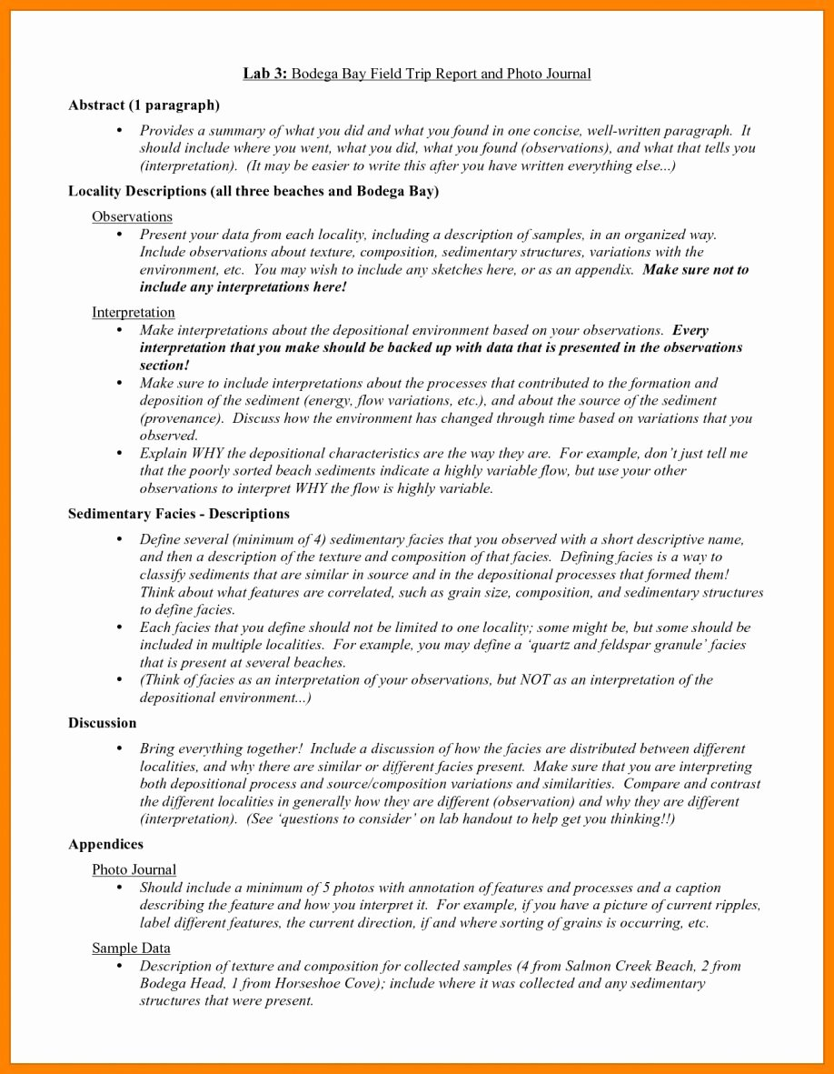 Field Report Example Best Of Report Writing On Field Trip How to Write A Business Trip