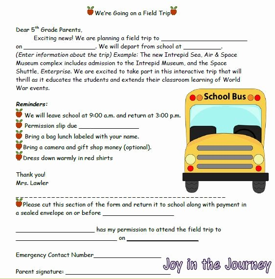 Field Trip Letter Template Best Of Tricks Of the Trade Linky Field Trips