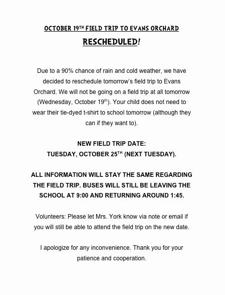 Field Trip Letter Template Elegant Mrs York S Classroom Blog Evans orchard Field Trip