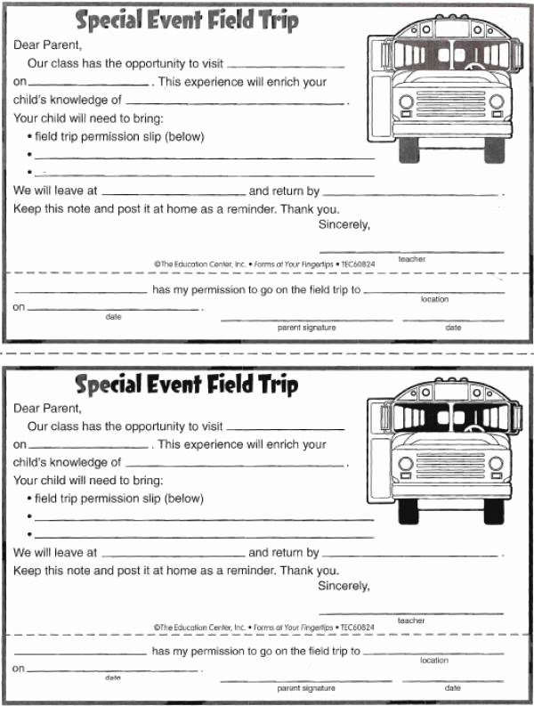 Field Trip Letter Template Lovely Field Trip Permission form
