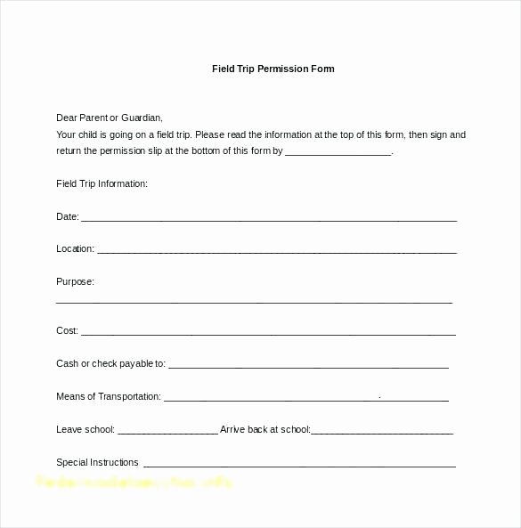 Field Trip Letter Template New School Field Trip Permission Slip
