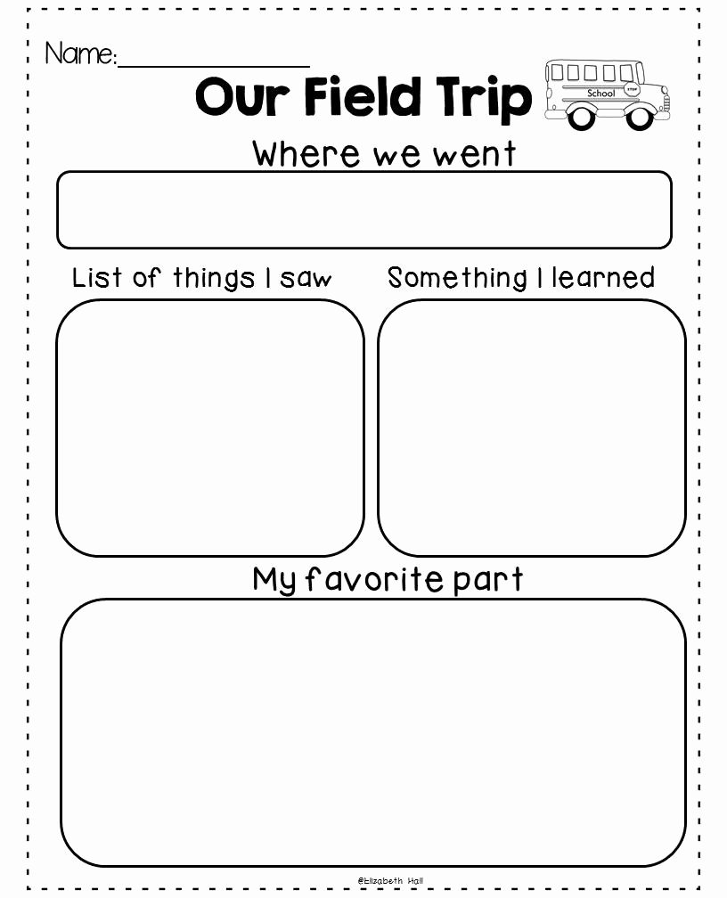 Field Trip Letter Template Unique Field Trip Exhaustion Freebie