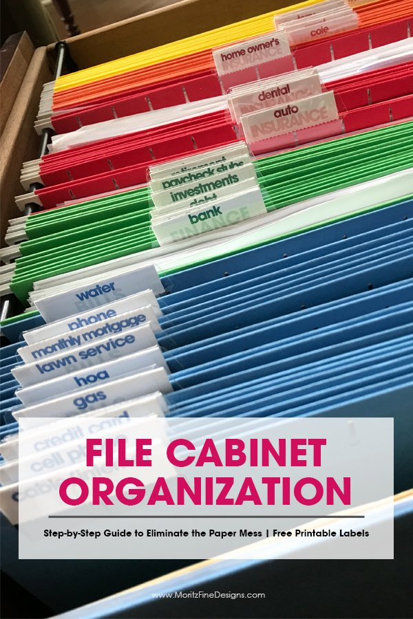 Filing Cabinet Label Template New Simple Steps to Get Your File Cabinet organized with Free