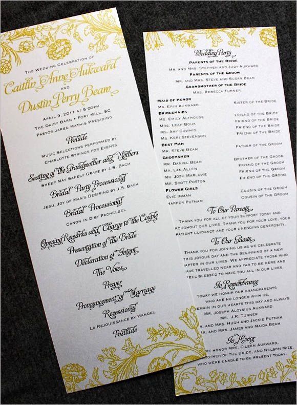 Filipino Catholic Wedding Program Beautiful Wedding Programs Wording On Pinterest