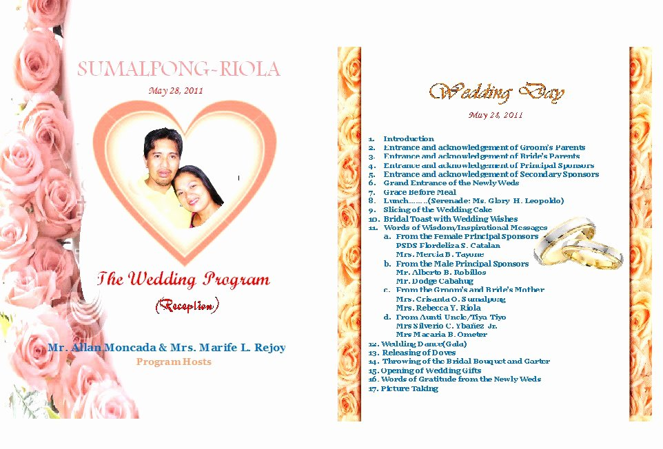 Filipino Catholic Wedding Program Best Of Media Acu Blog