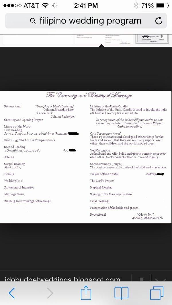 Filipino Catholic Wedding Program Fresh 19 Best Wedding Programs and Menus Images On Pinterest