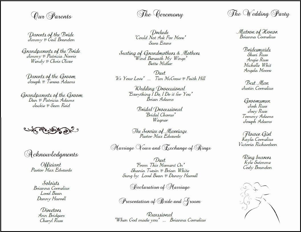 Filipino Catholic Wedding Program Fresh Example Of Wedding Programs