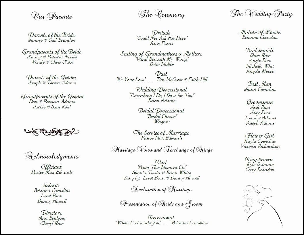 Filipino Catholic Wedding Program Fresh Example Of Wedding Programs