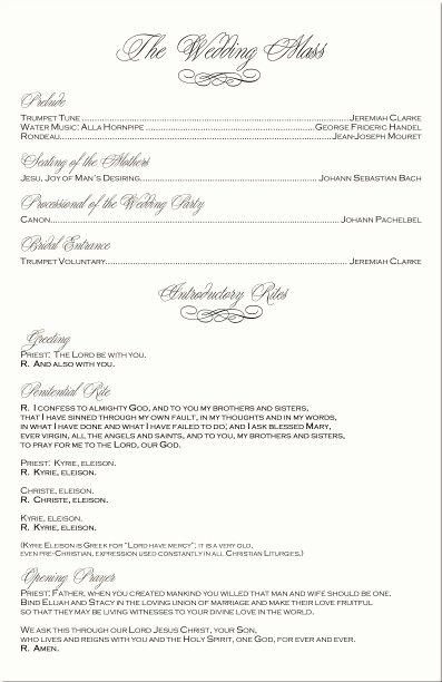 Filipino Catholic Wedding Program Lovely Wedding Programs Catholic Mass – Fastal Pro