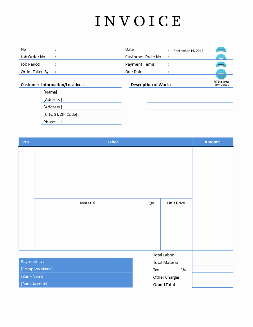 Fillable Invoice Template Word Luxury Editable Invoice Template Word with format In Plus Pdf