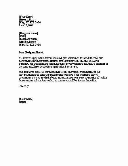 Final Notice Collection Letter Elegant Best S Of Collection Letter before Legal Action