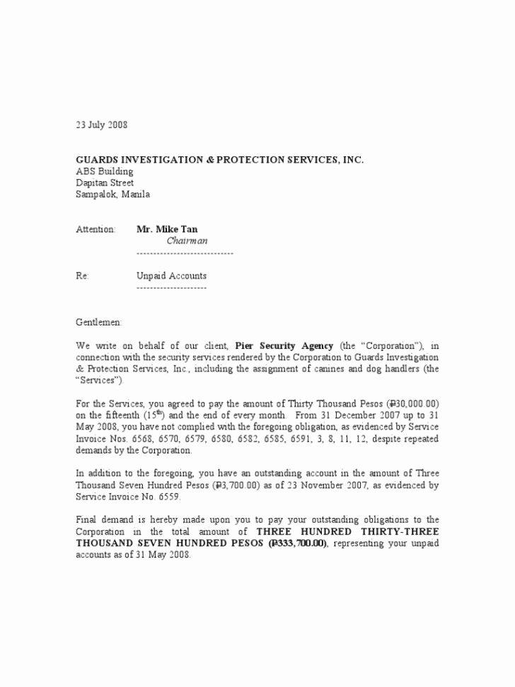 Final Notice Letter before Legal Action Awesome Final Demand Letters for Payment Letter Template Medicare