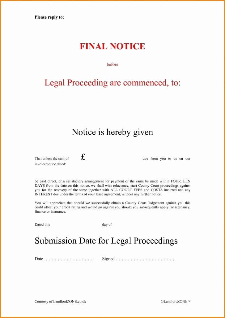 Final Notice Letter before Legal Action Lovely Final Demand Letter Template 2018 Professional Legal Cover