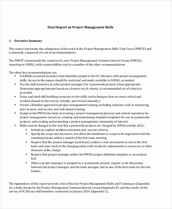 Final Project Report Sample Awesome 16 Sample Project Management Reports Word Apple Pages