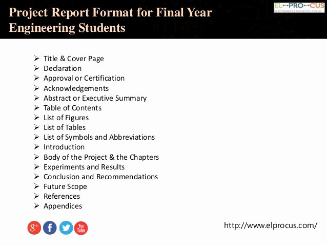 Final Project Report Sample Awesome Project Report format for Final Year Engineering Students
