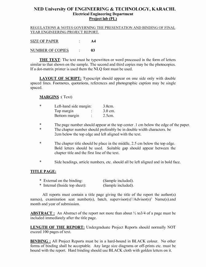 Final Project Report Sample Best Of Final Project Report Sample Technical Template