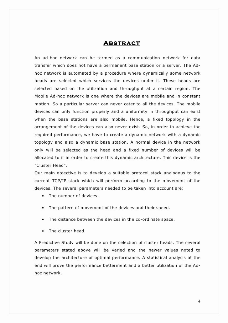 Final Project Report Sample Fresh Final Project Report format