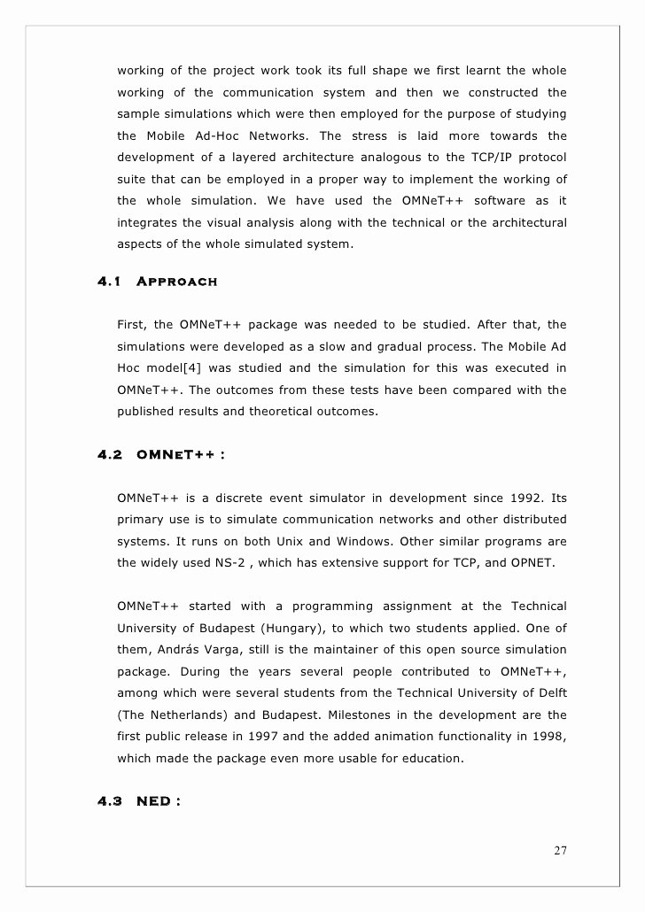 Final Project Report Sample New Final Project Report format