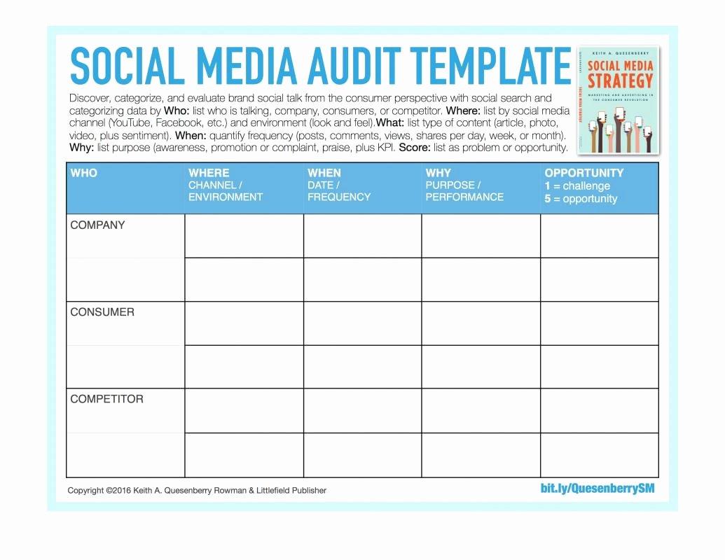 Findings Report Template Fresh social Media Reporting Templates