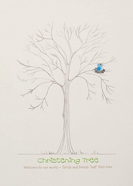 Fingerprint Trees Templates Beautiful Christening Fingerprint Trees Guest Books Click Here to