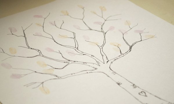 Fingerprint Trees Templates Best Of Wedding Diy Fingerprint Tree Template to Download & Print