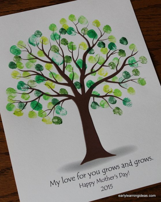 Fingerprint Trees Templates Elegant Make Custom Colored Ink Pads Early Learning Ideas