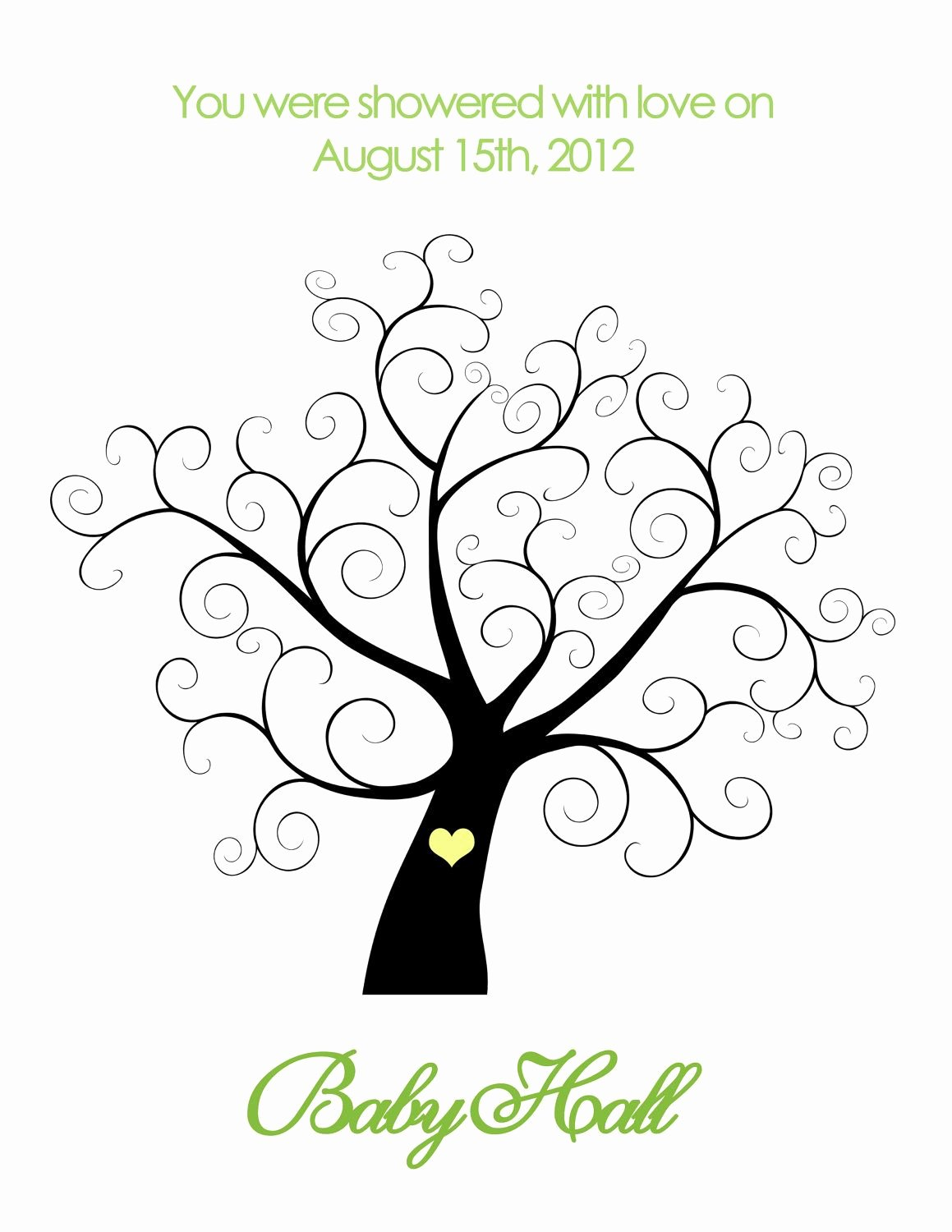 Fingerprint Trees Templates Inspirational Printable Baby Shower Thumbprint Tree Personalized $14
