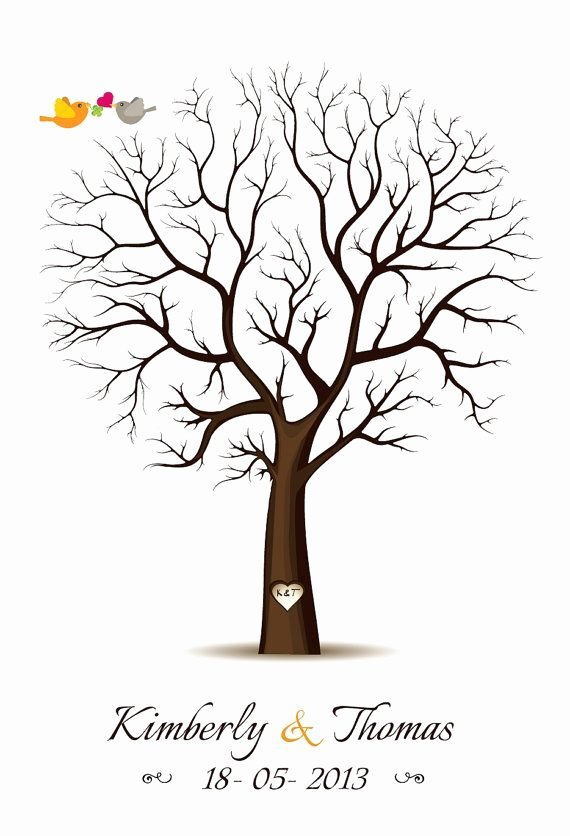Fingerprint Trees Templates Luxury Fingerprint Guest Book Template