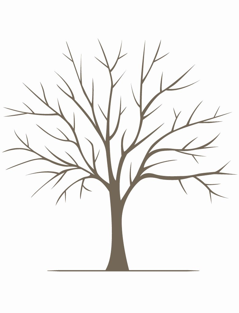 Fingerprint Trees Templates New Diy Fingerprint Tree Poster Instant Download