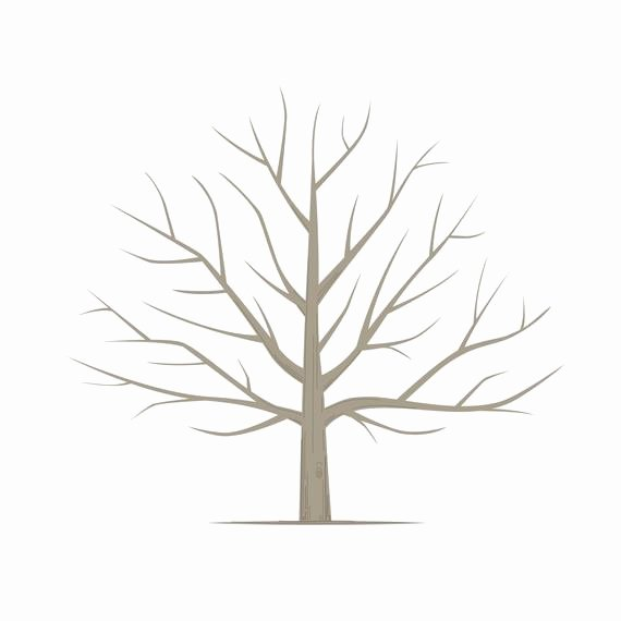 Fingerprint Trees Templates Unique Diy Fingerprint Tree Poster Instant Download Square
