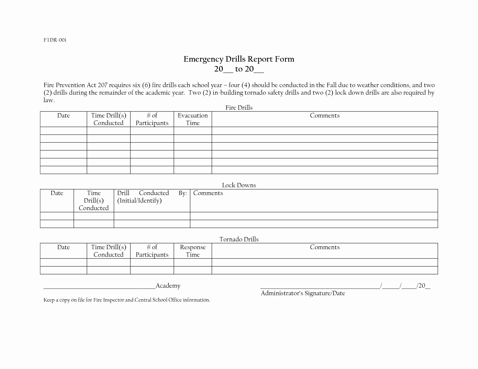 Fire Drill Report Sample Unique Best S Of Home Health Emergency Drill Evaluation form