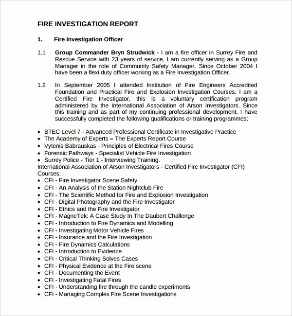 Fire Report Template Fresh 15 Investigation Report Templates Google Docs Word