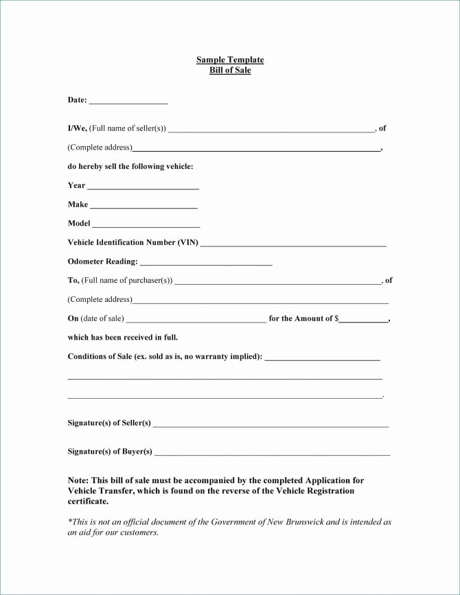Firearm Bill Of Sale Word Doc Elegant Bill Sale Alaska Template