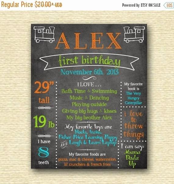 First Birthday Chalkboard Diy Fresh Off Sale First Birthday Chalkboard Sign Birthday