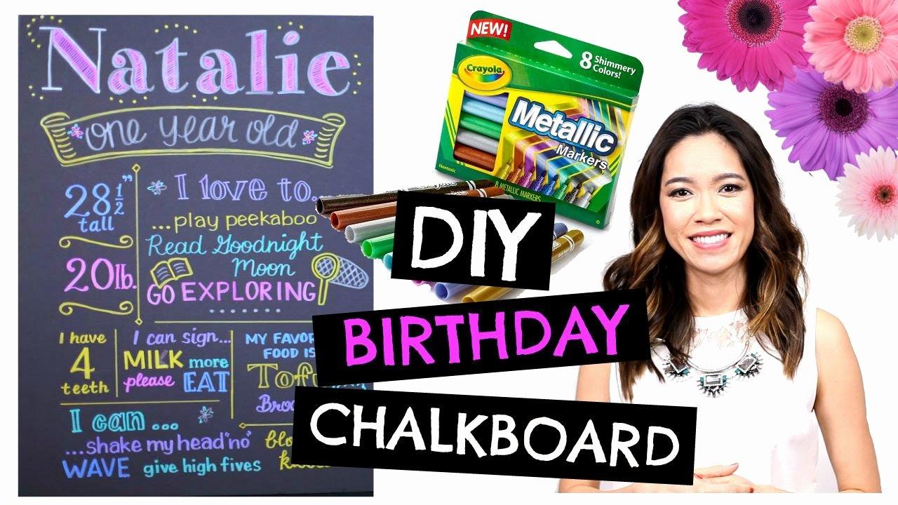 First Birthday Chalkboard Diy New Diy 1st Birthday Chalkboard Easy & Cheap