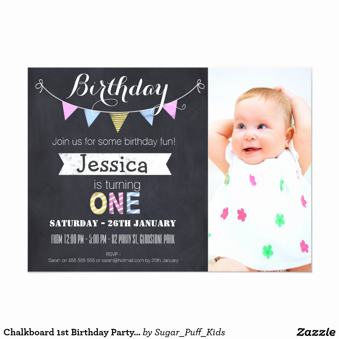 First Birthday Invitation Template Free Elegant 1st Birthday Invitation Template Free Printable