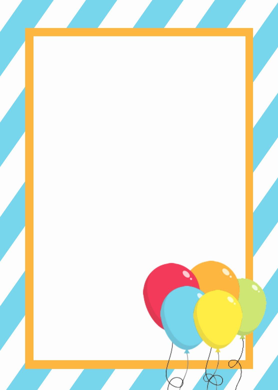 First Birthday Invitation Template Free Elegant Free Printable Birthday Invitation Templates
