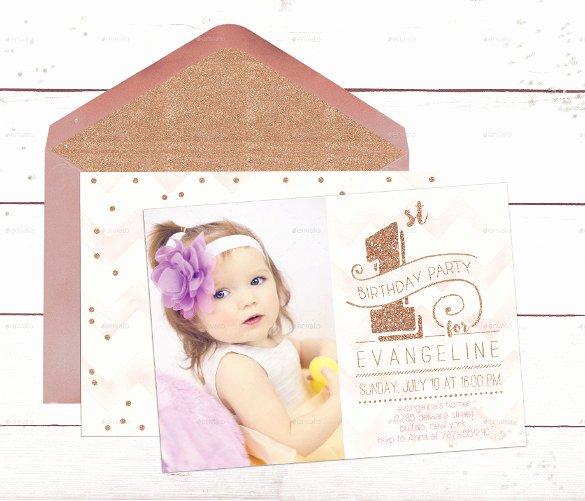 First Birthday Invitation Template Free Fresh 36 First Birthday Invitations Psd Vector Eps Ai Word