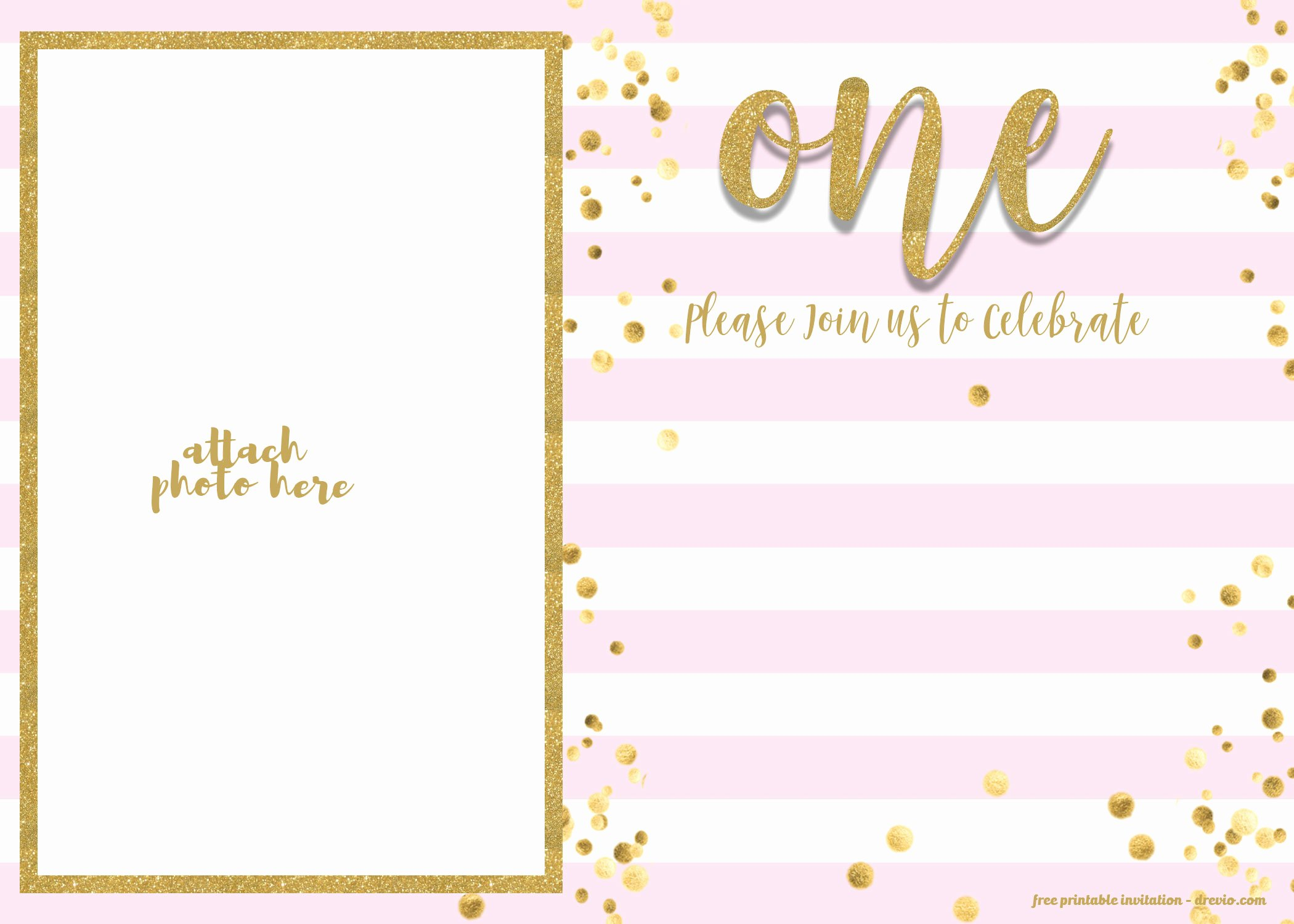 First Birthday Invitation Template Free Fresh Free 1st Birthday Invitations Template for Girl – Free