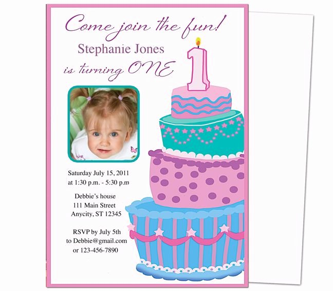 First Birthday Invitation Template Free Inspirational 13 Best Images About Printable 1st First Birthday