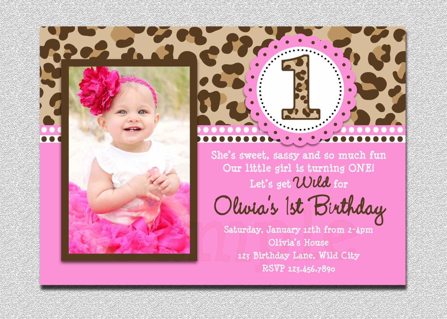 First Birthday Invitation Template Free Inspirational Free Printable 1st Birthday Invitations Girl – Free