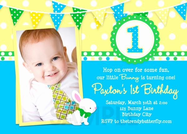 First Birthday Invitation Template Free Lovely Free Printable 1st Birthday Party Invitations Boy Template