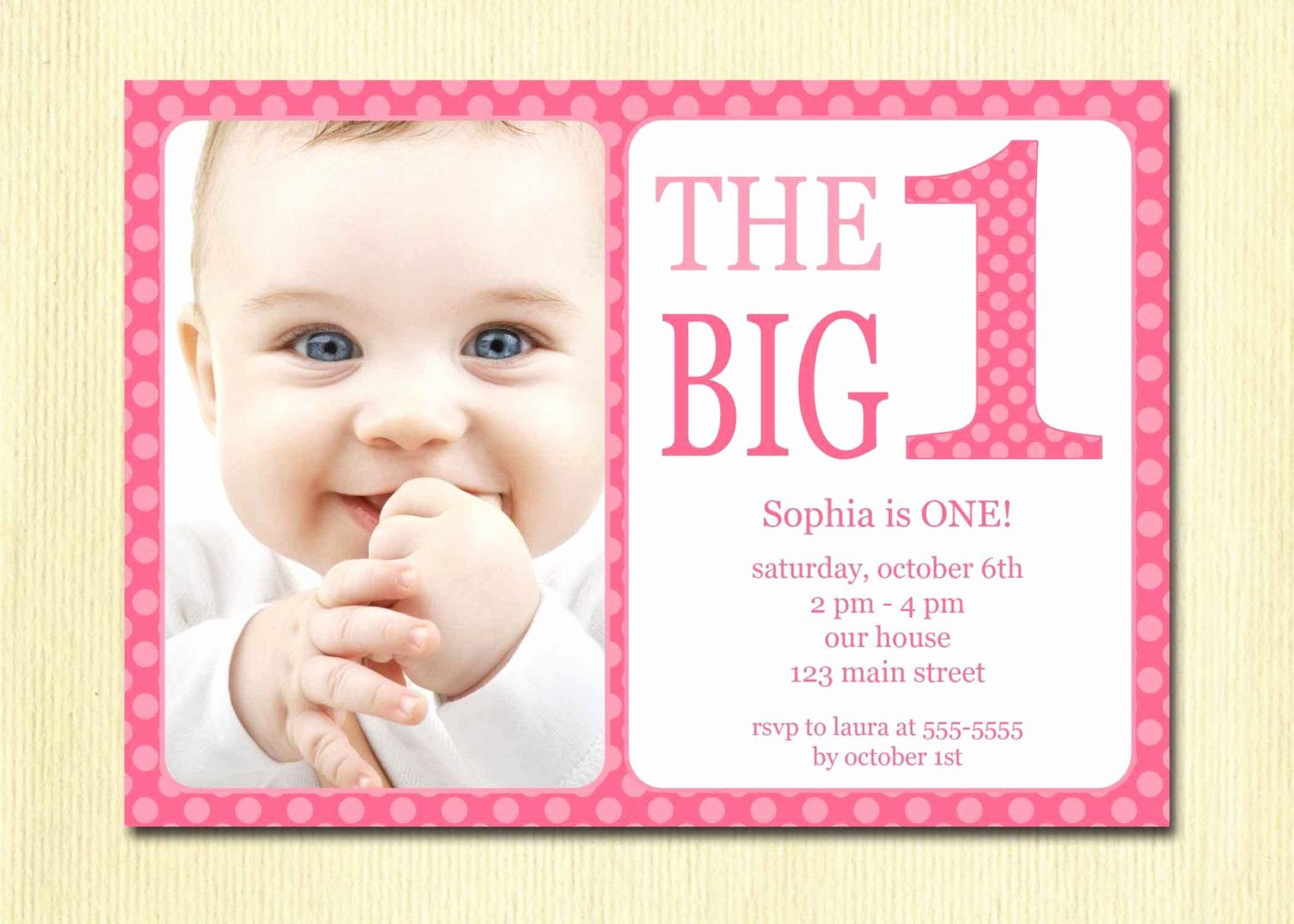 First Birthday Invitation Template Free Luxury Free Printable 1st Birthday Invitation Template