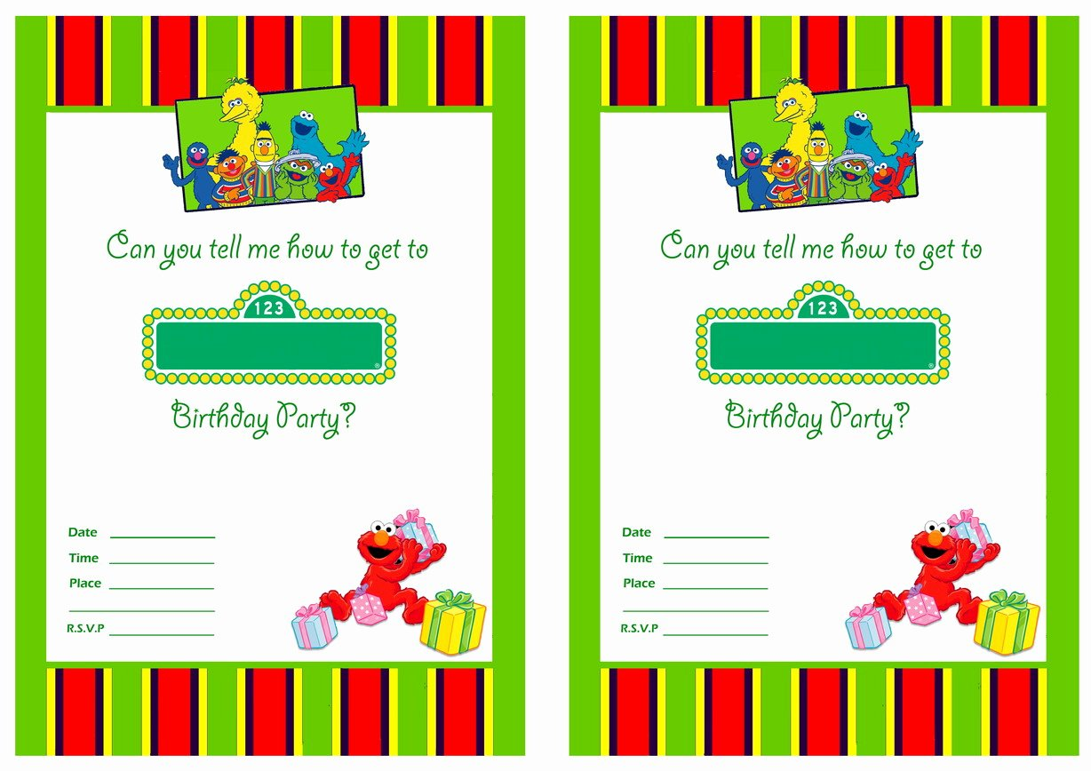 First Birthday Invitation Template Free Unique Free Printable Sesame Street 1st Birthday Invitations